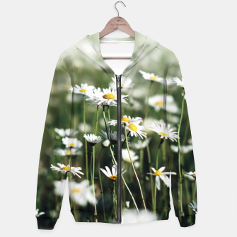 Thumbnail image of White Summer Daisies Flowers Hoodie, Live Heroes