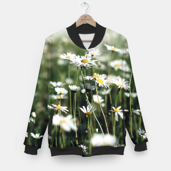 Thumbnail image of White Summer Daisies Flowers Baseball Jacket, Live Heroes