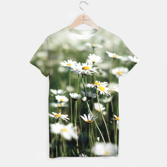 Thumbnail image of White Summer Daisies Flowers T-shirt, Live Heroes