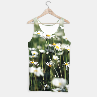 Thumbnail image of White Summer Daisies Flowers Tank Top, Live Heroes