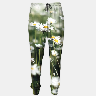 Thumbnail image of White Summer Daisies Flowers Sweatpants, Live Heroes