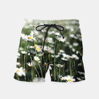 Thumbnail image of White Summer Daisies Flowers Swim Shorts, Live Heroes