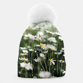 Thumbnail image of White Summer Daisies Flowers Beanie, Live Heroes