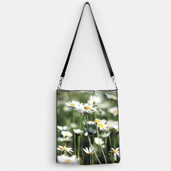 Thumbnail image of White Summer Daisies Flowers Handbag, Live Heroes