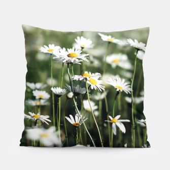 Thumbnail image of White Summer Daisies Flowers Pillow, Live Heroes