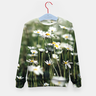 Thumbnail image of White Summer Daisies Flowers Kid's Sweater, Live Heroes