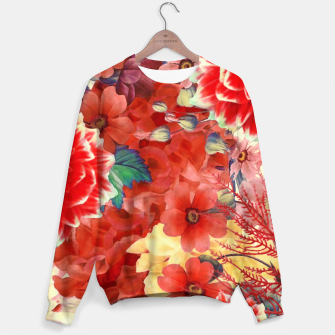 flowers red Bluza obraz miniatury