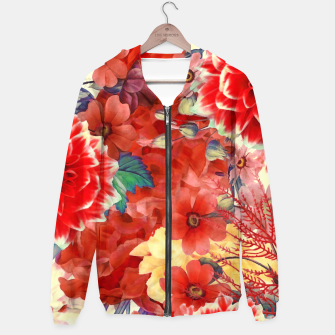 Thumbnail image of flowers red Bluza z kapturem, Live Heroes