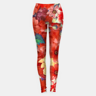 Thumbnail image of flowers red Legginsy, Live Heroes