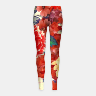 Thumbnail image of flowers red Legginsy dziewczęce, Live Heroes