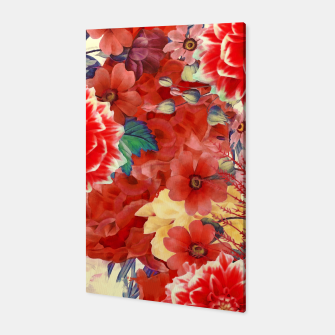 flowers red Canvas obraz miniatury