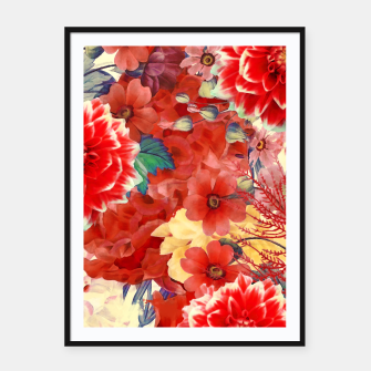 Thumbnail image of flowers red Plakaty w ramie , Live Heroes