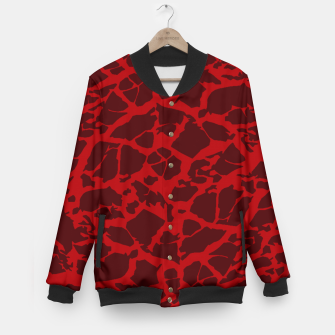 Miniatur Red Texture Baseball Jacket, Live Heroes