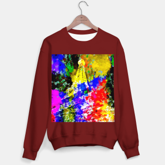Miniaturka Eiffel Tower, France at night with colorful painting abstract background Sweater regular, Live Heroes