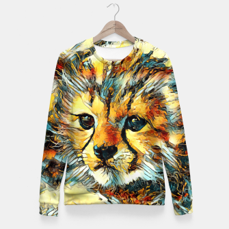 Thumbnail image of AnimalArt_Cheetah_20170602_by_JAMColors Fitted Waist Sweater, Live Heroes