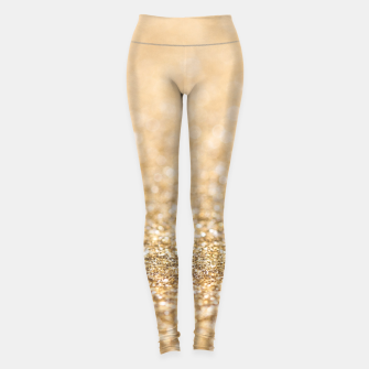 Thumbnail image of Beautiful champagne gold glitter sparkles Leggings, Live Heroes