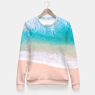 Thumbnail image of Ocean in Millennial Pink Fitted Waist Sweater, Live Heroes