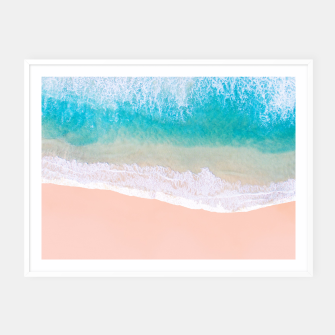 Thumbnail image of Ocean in Millennial Pink Framed poster, Live Heroes