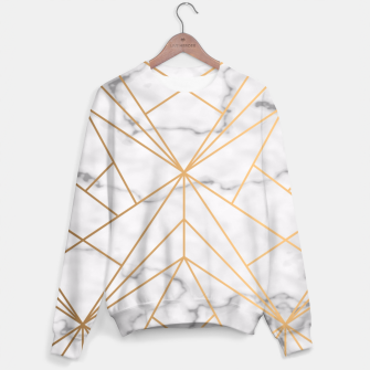 Thumbnail image of Geometric Gold Pattern on Marble Sweater, Live Heroes