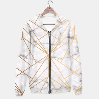 Thumbnail image of Geometric Gold Pattern on Marble Hoodie, Live Heroes