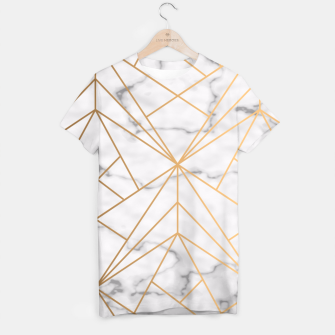 Thumbnail image of Geometric Gold Pattern on Marble T-shirt, Live Heroes