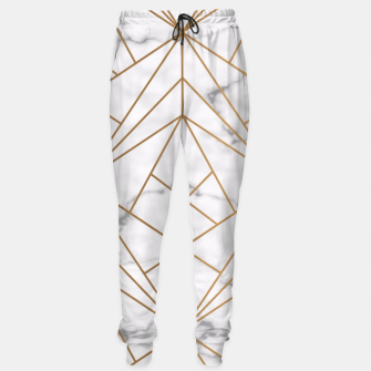 Thumbnail image of Geometric Gold Pattern on Marble Sweatpants, Live Heroes