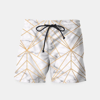 Thumbnail image of Geometric Gold Pattern on Marble Swim Shorts, Live Heroes