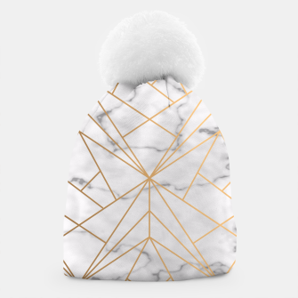 Thumbnail image of Geometric Gold Pattern on Marble Beanie, Live Heroes