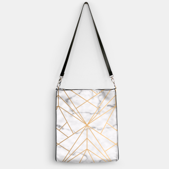 Thumbnail image of Geometric Gold Pattern on Marble Handbag, Live Heroes