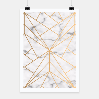 Thumbnail image of Geometric Gold Pattern on Marble Poster, Live Heroes