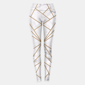 Thumbnail image of Geometric Gold Pattern on Marble Leggings, Live Heroes