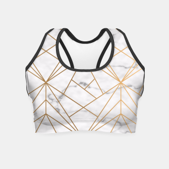 Thumbnail image of Geometric Gold Pattern on Marble Crop Top, Live Heroes