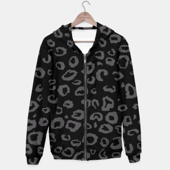 Thumbnail image of Black and Gray Leopard Hoodie, Live Heroes