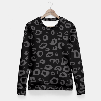Thumbnail image of Black and Gray Leopard Fitted Waist Sweater, Live Heroes
