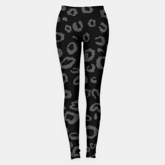 Thumbnail image of Black and Gray Leopard Leggings, Live Heroes