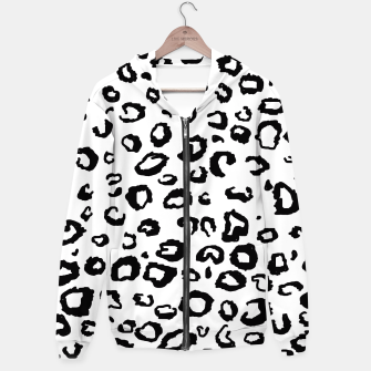 Thumbnail image of Simple Black and White Leopard Hoodie, Live Heroes