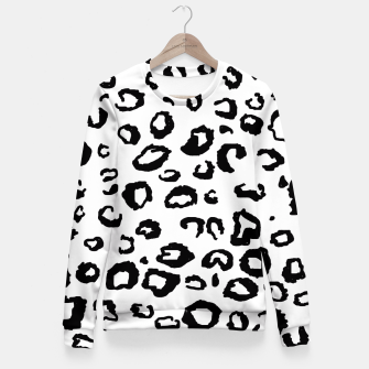 Thumbnail image of Simple Black and White Leopard Fitted Waist Sweater, Live Heroes