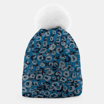 Thumbnail image of Blues Leopard Beanie, Live Heroes