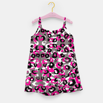 Thumbnail image of Black Gray White and Pink Leopard Girl's Dress, Live Heroes