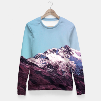 Wanderlust Mountains Fitted Waist Sweater thumbnail image