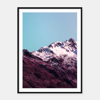 Wanderlust Mountains Framed poster thumbnail image