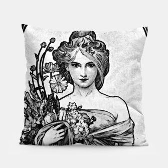 Thumbnail image of Alphonse Mucha Broken Blossoms Pillow, Live Heroes