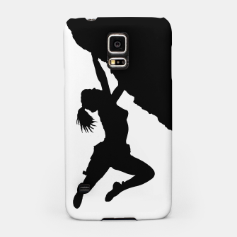 Thumbnail image of Girl bouldering silhouette, Live Heroes