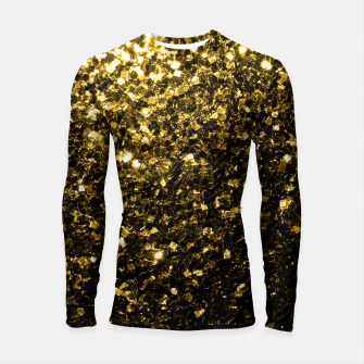 Thumbnail image of Beautiful Yellow Gold glitter sparkles  Longsleeve Rashguard , Live Heroes