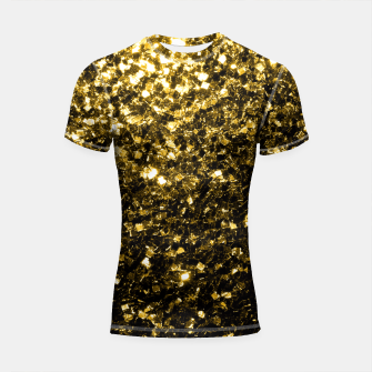 Thumbnail image of Beautiful Yellow Gold glitter sparkles  Shortsleeve Rashguard, Live Heroes