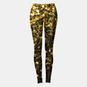 Thumbnail image of Beautiful Yellow Gold glitter sparkles  Leggings, Live Heroes