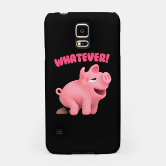 Thumbnail image of Rosa the Pig WHATEVER pooing Samsung Case, Live Heroes