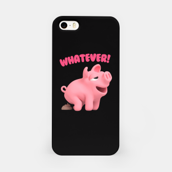 Rosa the Pig WHATEVER pooing iPhone Case thumbnail image