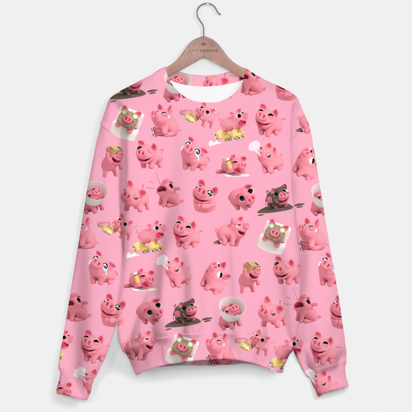 Image of Rosa the Pig Pattern Sweater - Live Heroes