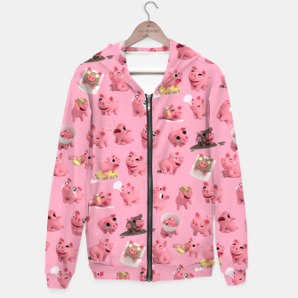 Thumbnail image of Rosa the Pig Pattern Hoodie, Live Heroes